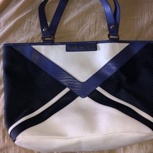 Juicy Couture Blue Leather Tote